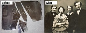 Image enhancement at The Picture Frame Studio- Before and after